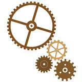 Steampunk gear wheels. Set of retro styled gear wheels islated on white background Royalty Free Stock Images