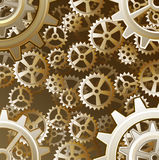 Steampunk gears background Royalty Free Stock Images