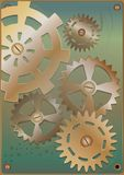 Steampunk. Gears. royalty free illustration