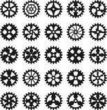 Steampunk gears. Silhouettes vector set Stock Photography