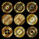 The steampunk gears Stock Photography