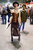 Steampunk girl at Cartoomics 2014 Royalty Free Stock Image