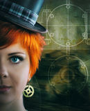 Steampunk girl royalty free stock image