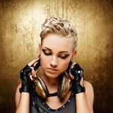 Steampunk girl portrait stock images