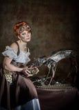 Steampunk girl Stock Image