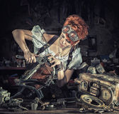 Steampunk girl Stock Image