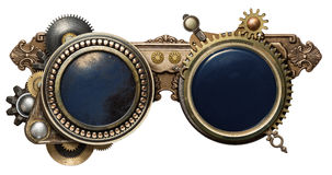 Steampunk glasses stock photography