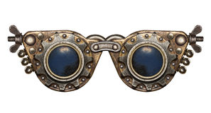 Steampunk goggles. Isolated metal collage Royalty Free Stock Photo
