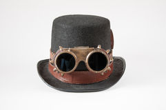 Steampunk gogle i kapelusz Fotografia Stock