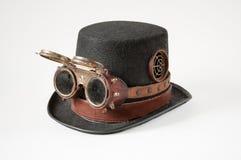 Steampunk gogle i kapelusz Zdjęcie Royalty Free