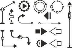 Steampunk grafische voorwerpen Vector Illustratie