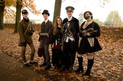 Steampunk group at Lucca Comics and Games 2017 Stock Photography