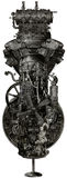 Steampunk Grunge Industrial Machine Isolated Royalty Free Stock Photo