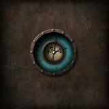 Steampunk Grungeklocka Fotografering för Bildbyråer