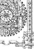 Steampunk hand drawn Stock Images