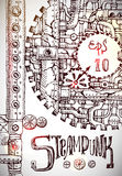Steampunk hand drawn Royalty Free Stock Photos