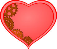 Steampunk heart background Royalty Free Stock Photos
