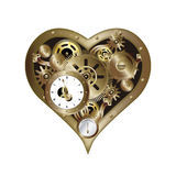 Steampunk heart 2 Stock Image