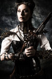 Steampunk hjälte royaltyfri fotografi