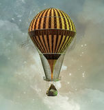 Steampunk hot air balloon Stock Image