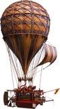 Steampunk Hot Air Balloon, Isolated, Airship