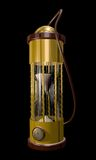 Steampunk hourglass. A fantasy illustration of a vintage-looking brass hourglass Stock Images