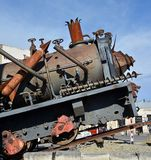 Steampunk HQ Tourist Attraction Train, Oamaru, New Zealand stock photo