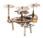 Steampunk-Hubschrauber Stockbild