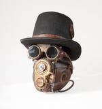 Steampunk kapelusz, gogle i maska, Obrazy Royalty Free