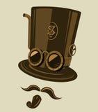 steampunk kapeluszowy wierzchołek Obrazy Stock