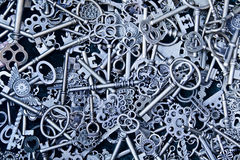 Steampunk keys stock image