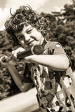 Steampunk kid Stock Photos
