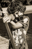 Steampunk kid Royalty Free Stock Photography