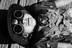 Steampunk kid Stock Photo
