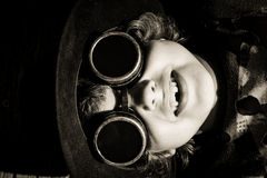 Steampunk kid Royalty Free Stock Images