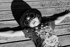 Steampunk kid Royalty Free Stock Photo