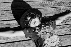 Steampunk kid Royalty Free Stock Photo