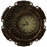 Steampunk klocka, 3d CG stock illustrationer