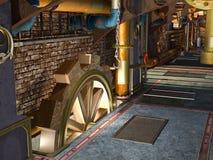 Steampunk konstruktion Arkivfoton