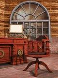 Steampunk kontor Arkivbild
