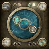 Steampunk kontrollbräde Arkivbild