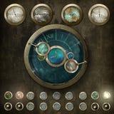 Steampunk kontrollbräde v2 Arkivbilder