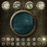 Steampunk kontrollbräde v2 Royaltyfri Fotografi