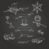Steampunk-Kreide boardΠStockfotos