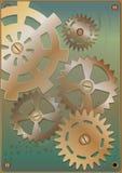 Steampunk Kugghjul royaltyfri illustrationer