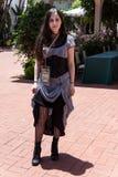 Steampunk kvinna Arkivfoto