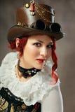 Steampunk kvinna royaltyfria foton