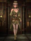 Steampunk Lady Arkivfoton