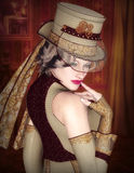 Steampunk lady Stock Image
