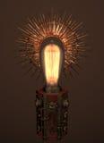 Steampunk-Lampe mit dekorativem Reflektor der Sternsonne vektor abbildung